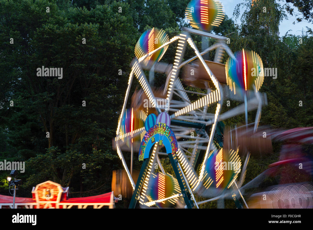 Victorian Gardens, Carnival Rides In Central Park, NYC
