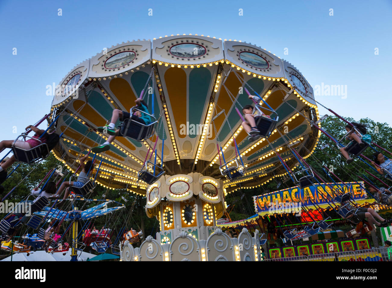 Victorian Gardens, Carnival in Central Park, NYC Stock Photo ...