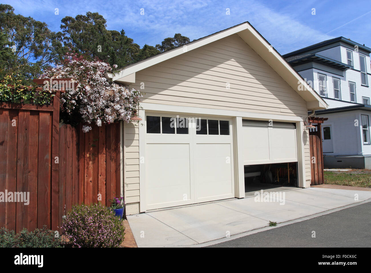 Garage Door Open Stock Photos Garage Door Open Stock Images Alamy