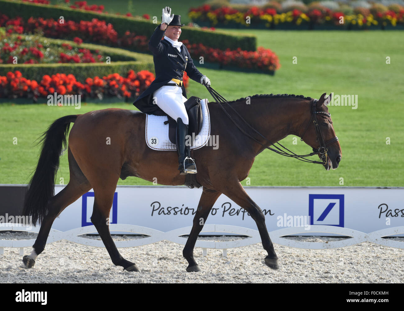Aachen, Germany  12th Aug, 2015  Isabell Werth of Germany
