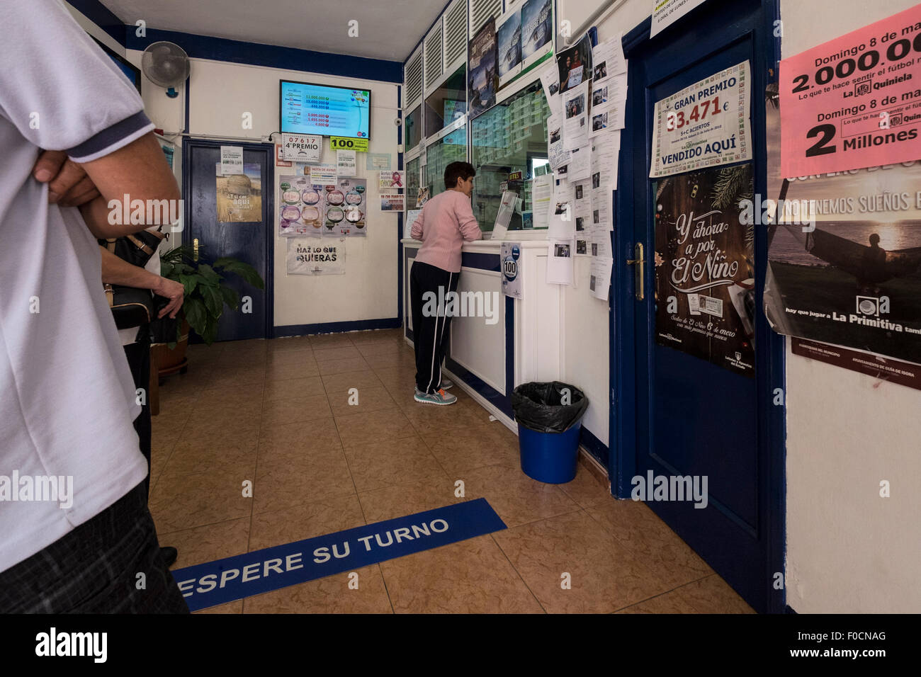 Spanish lottery office selling tickets to play in the