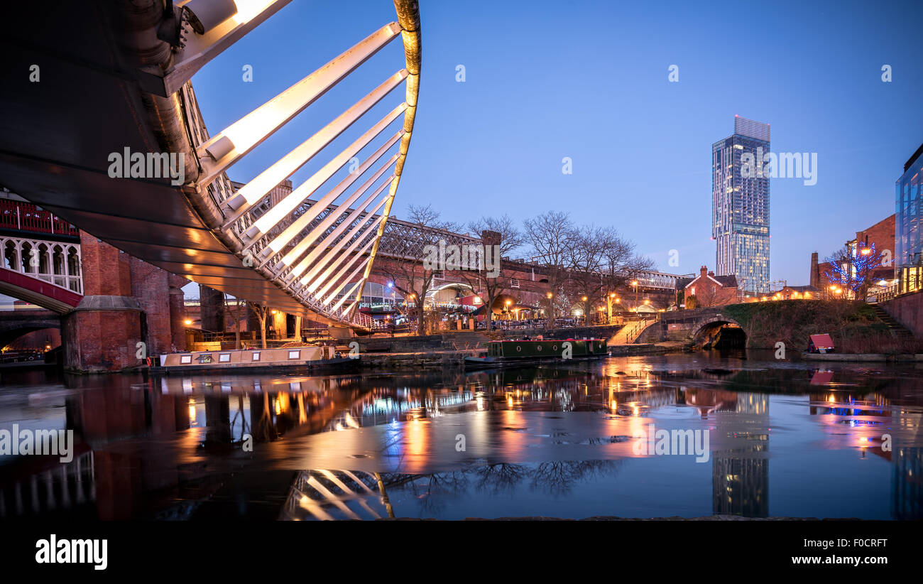 Castlefield is an inner city conservation area of Manchester in North West England. - Stock Image