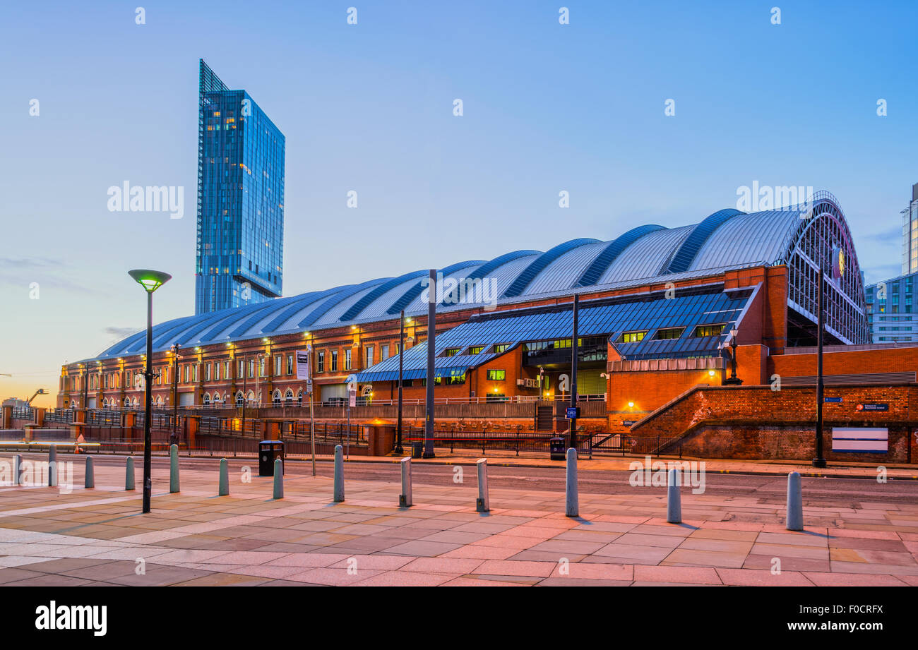 Beetham Tower and former Manchester railway station, Manchester, England. - Stock Image