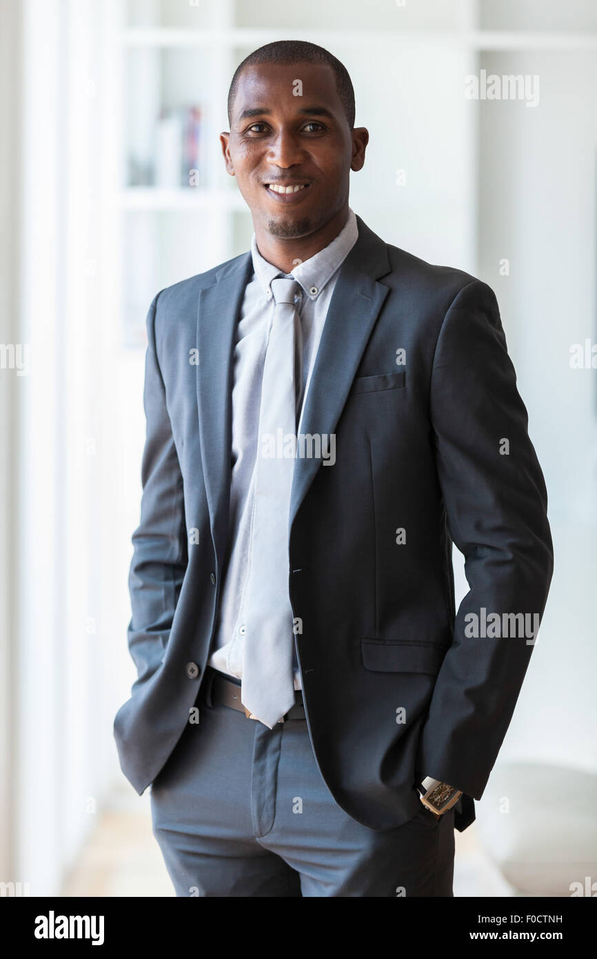 African american business man  - Black people - Stock Image