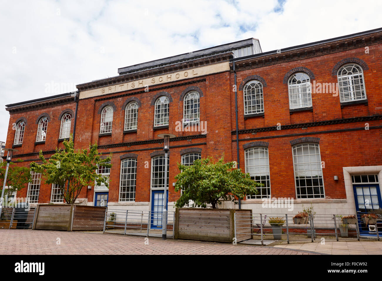 scholars gate apartment complex formerly the british school building Birmingham UK - Stock Image