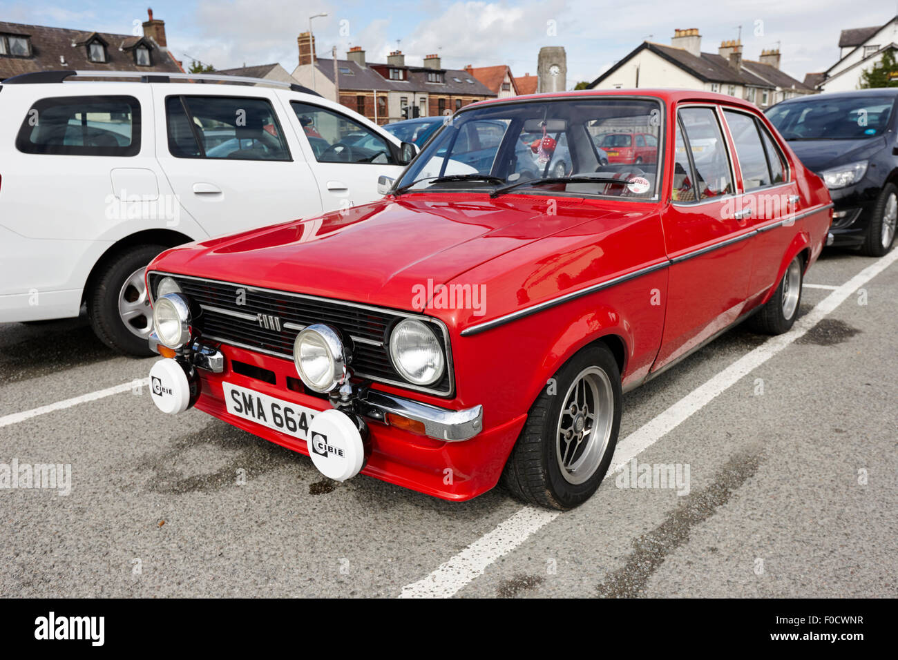 mark 2 ford escort anglesey north wales uk - Stock Image