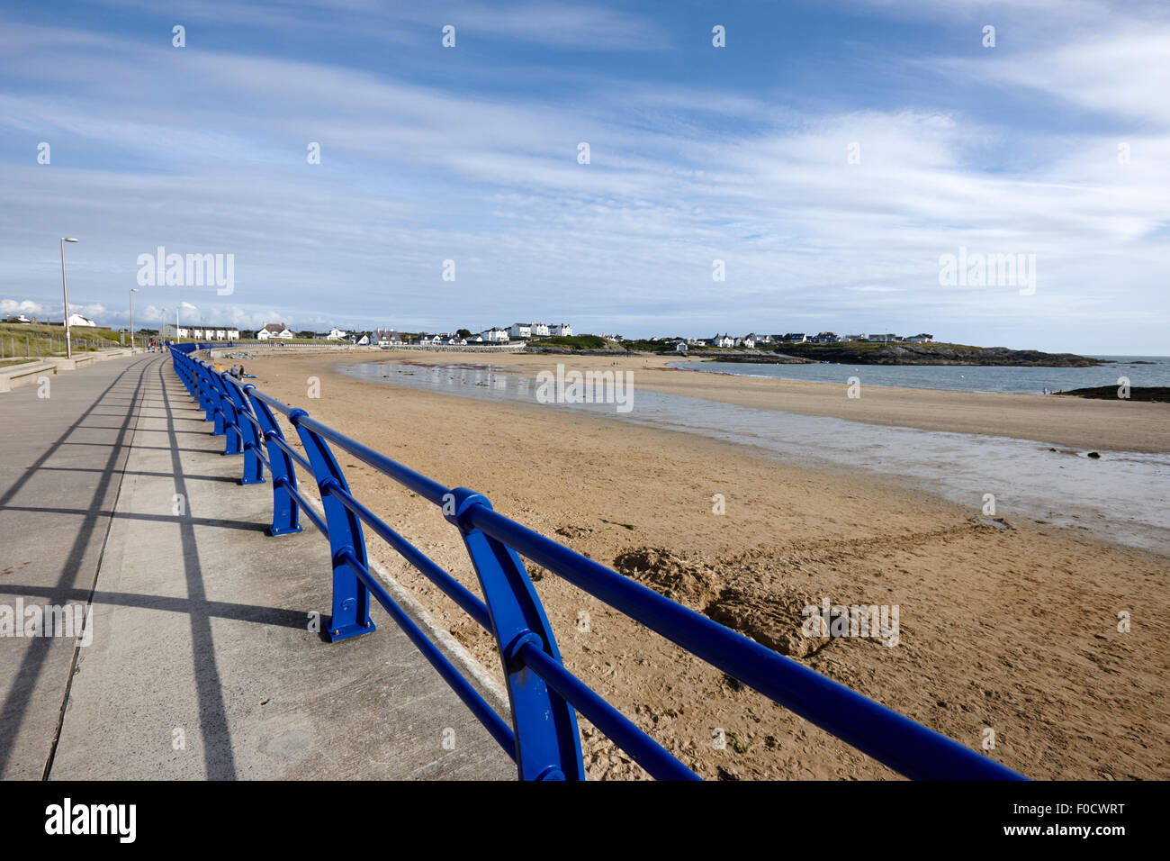 beach at trearddur bay anglesey north wales uk - Stock Image