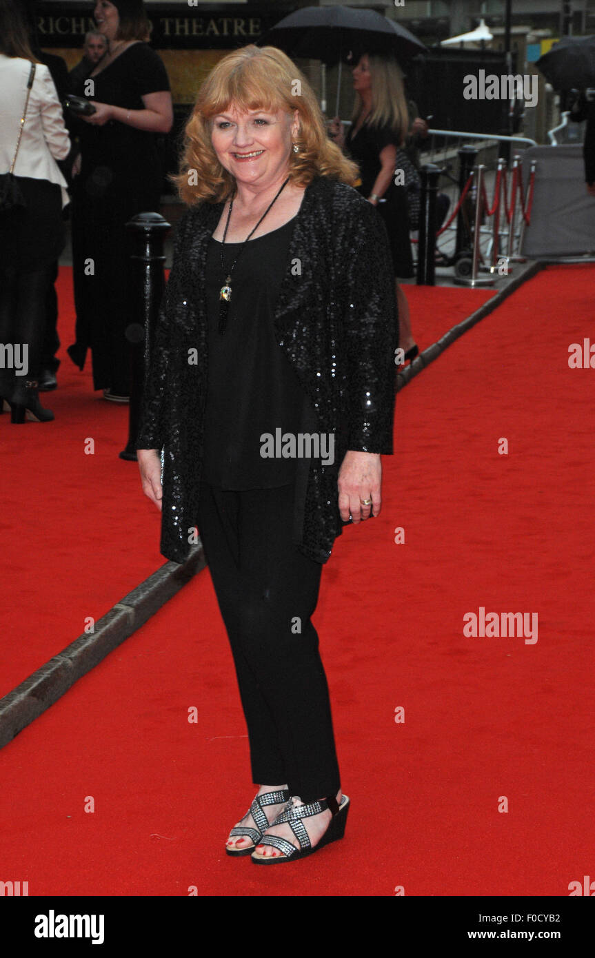 London, UK, 11 August 2015, Lesley Nicol attends the BAFTA tribute and special award ceremony for ITV's Downton - Stock Image
