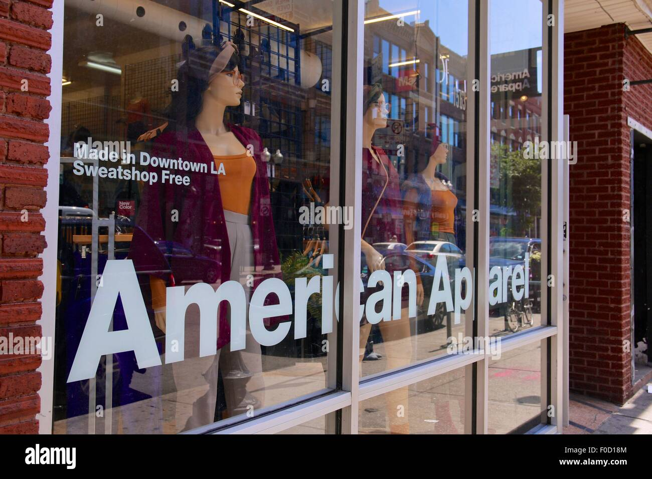 American Apparel Store, north Milwaukee Avenue, Chicago, Illinois - Stock Image