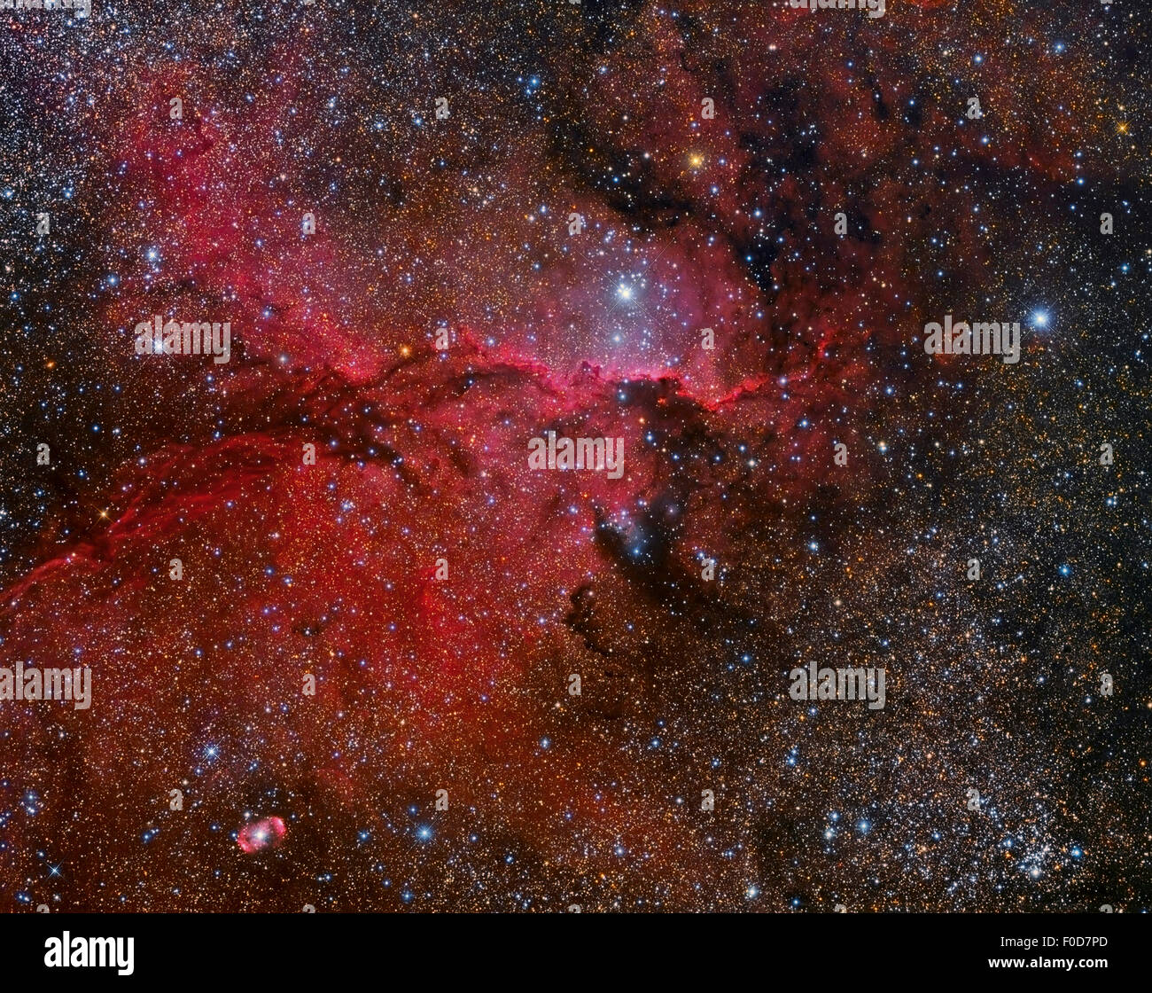NGC 6188 emission nebula in the Ara constellation. - Stock Image