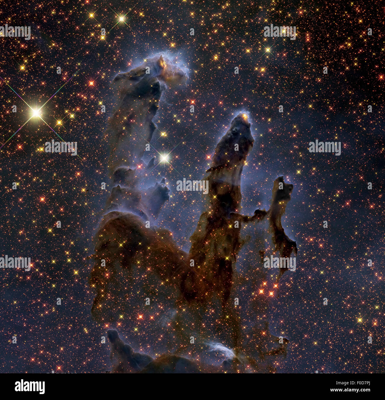 Messier 16, The Eagle Nebula in Serpens. - Stock Image
