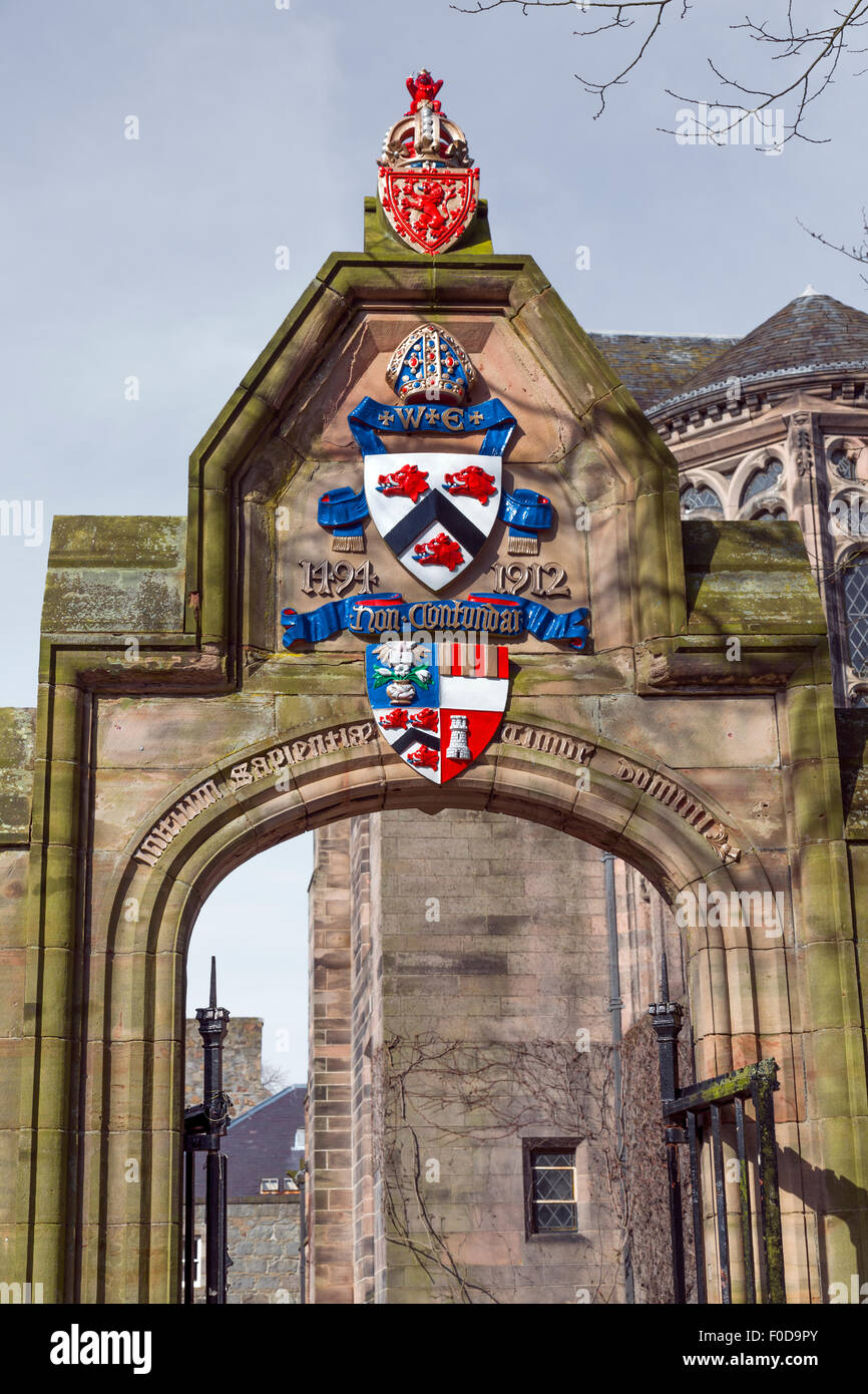 King's College at Aberdeen University, Scotland, UK - Stock Image