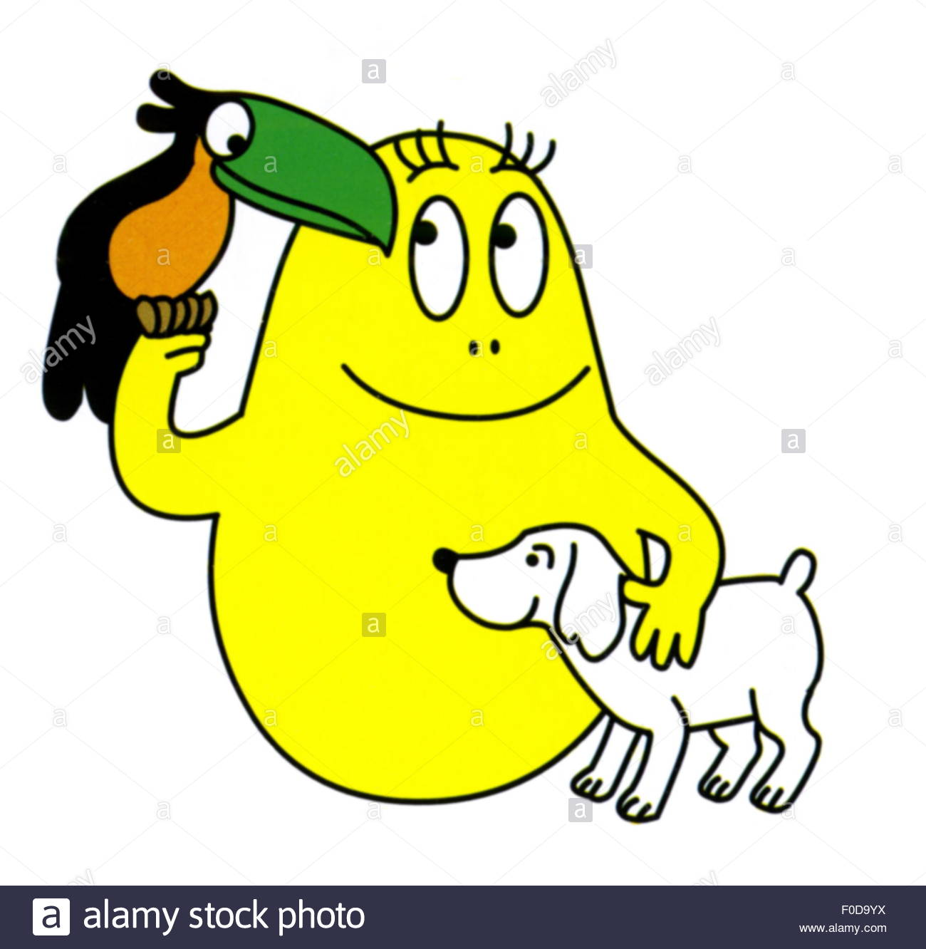 literature, comics, Barbapapa, Barbakus, by Annette Tison and Talus Taylor, historic, historical, drawing, illustration, - Stock Image