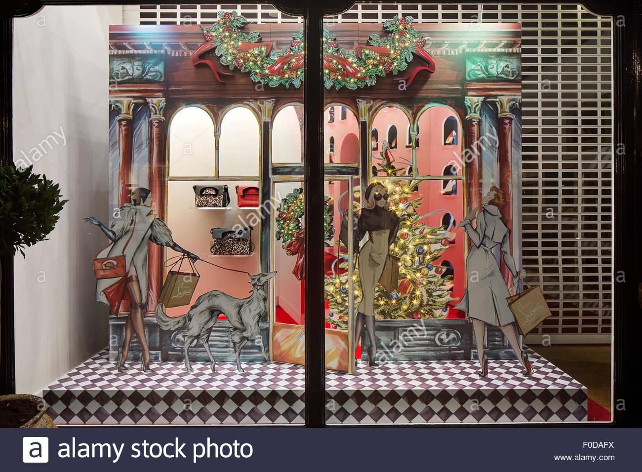 36a51f209497 Display windows. Christian Louboutin - Christmas Windows