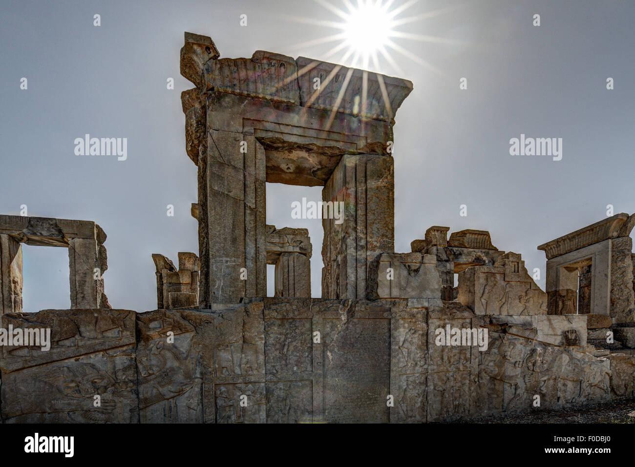 Ruins of Persepolis, Iran - Stock Image