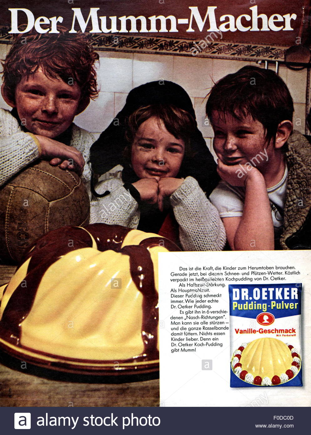 Advertising Food Advert For Dr Oetker Instant Pudding Powder