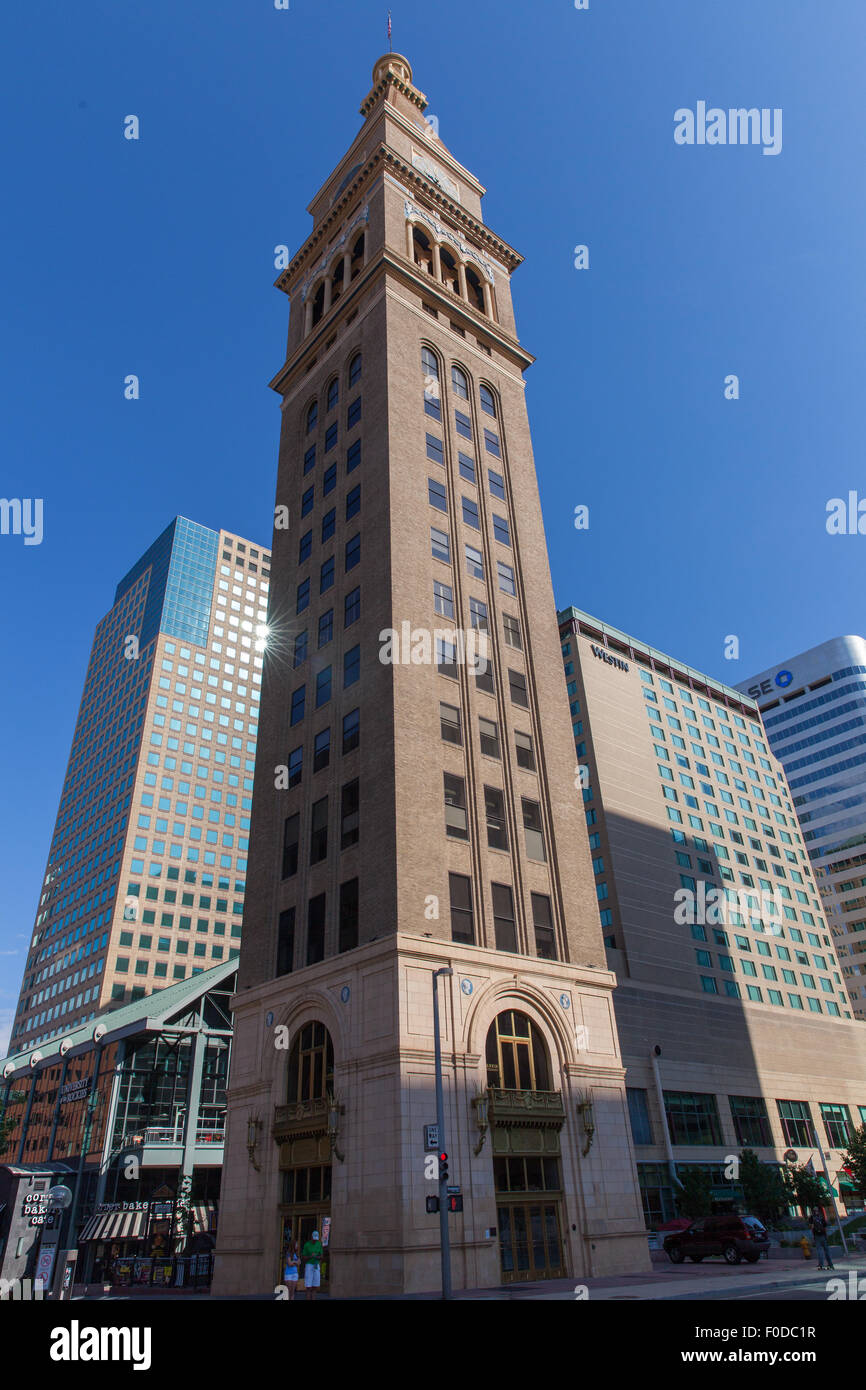 The Daniels And Fisher Tower Denver Colorado USA - Stock Image