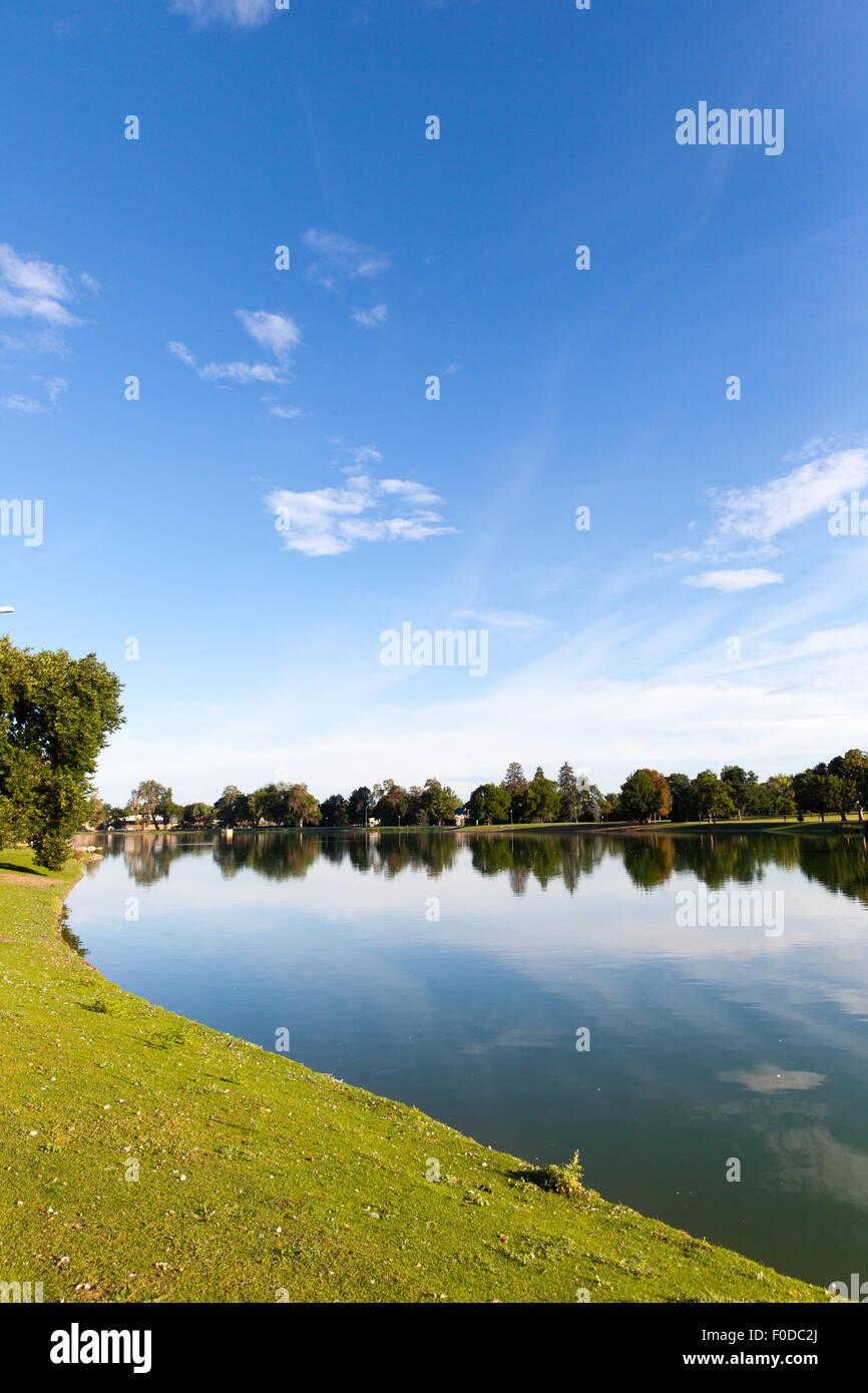 Ferril Lake City Park Denver Colorado USA - Stock Image