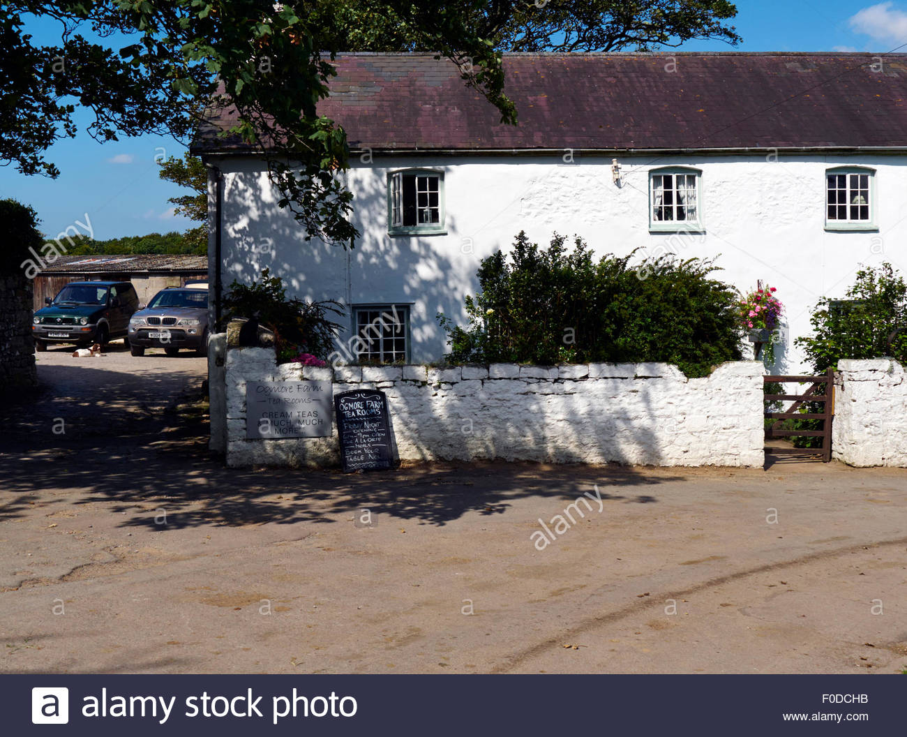 Ogmore farm tea rooms on the heritage coast in south wales uk Stock Photo