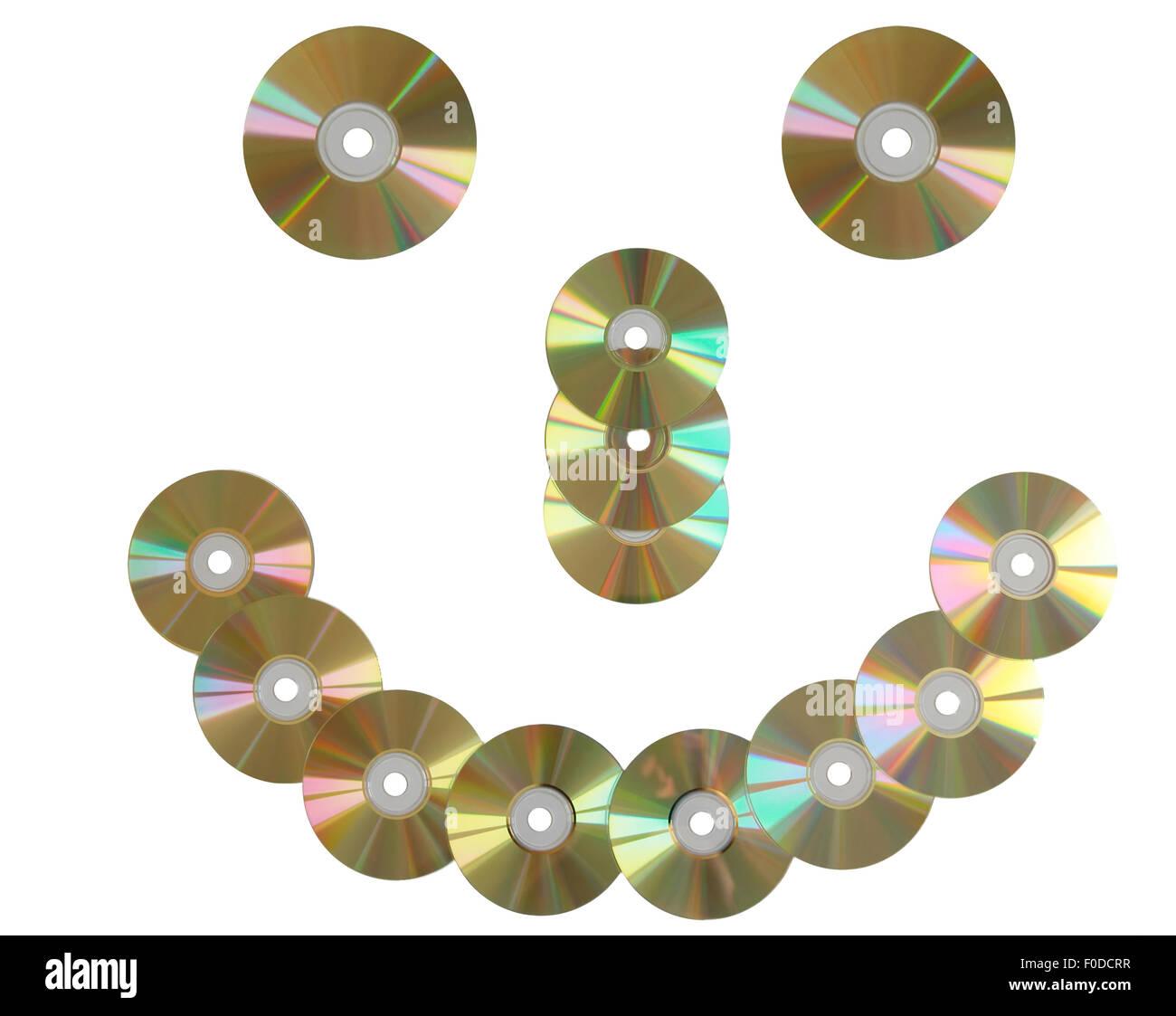 CD discs smile. - Stock Image