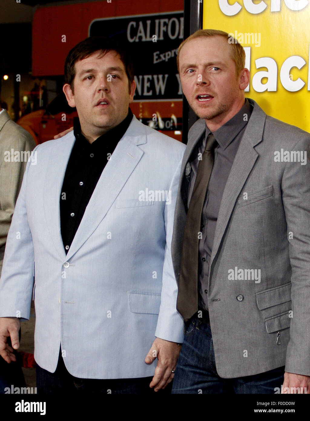 68c210efcd Nick Frost and Simon Pegg at the Los Angeles Premiere of  Paul  held at
