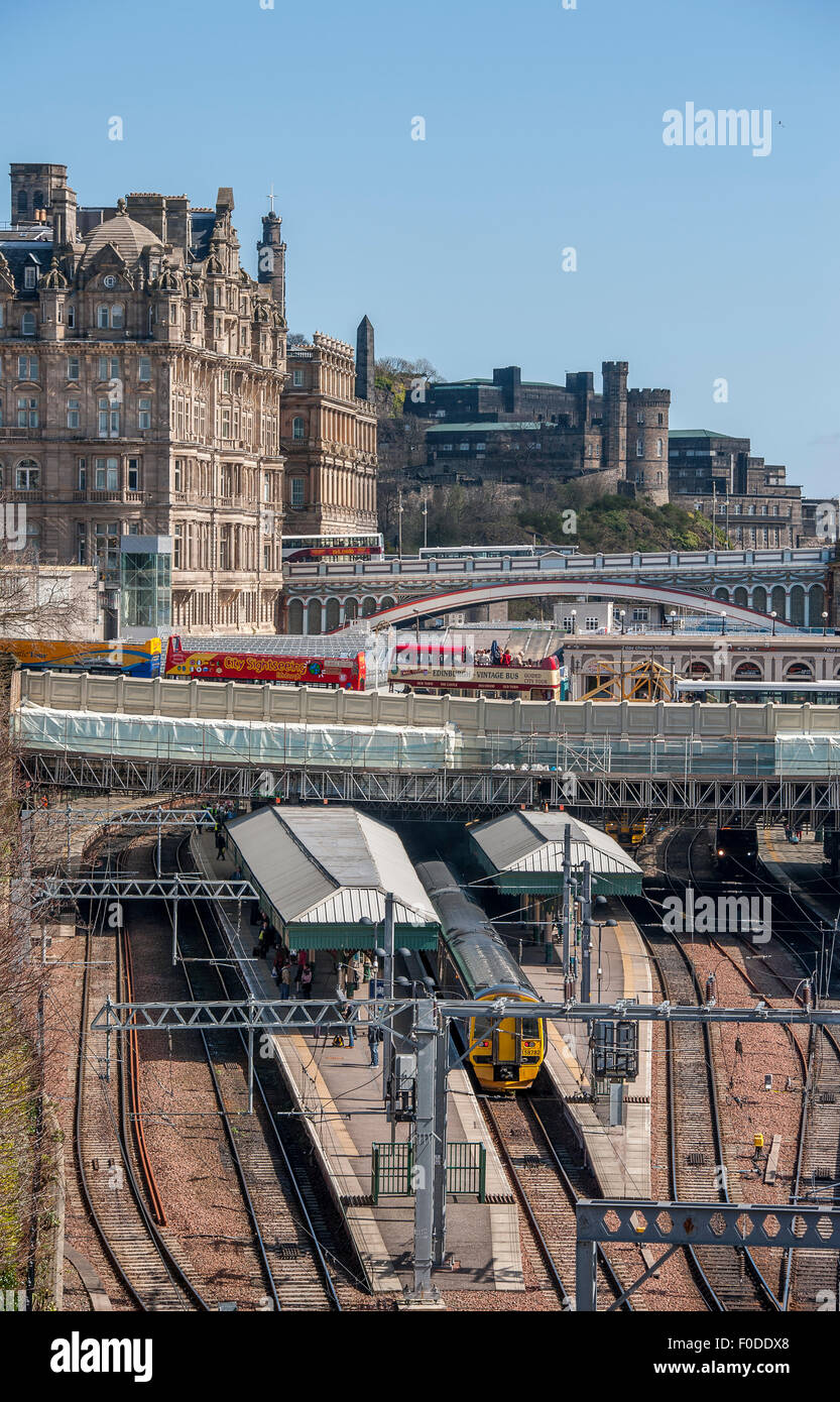 Edinburgh Waverley railway station, Scotland, United Kingdom. - Stock Image