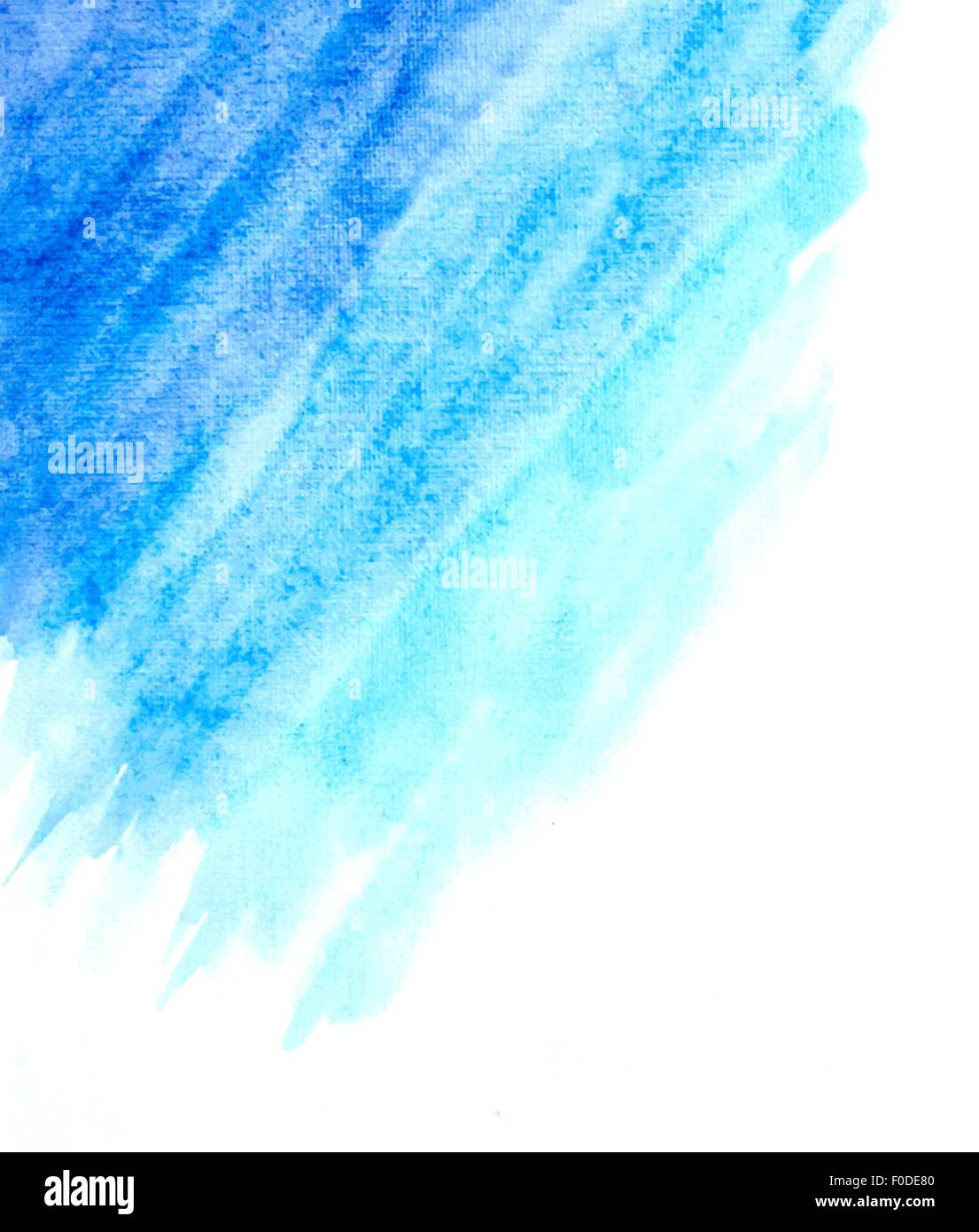 Light Blue Watercolor Abstract Background Vector Stock