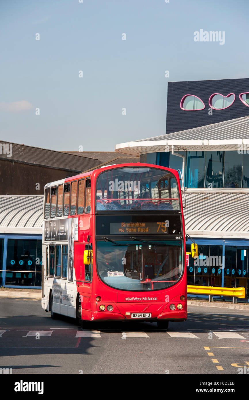 Double decker bus in West Bromiwch in the West Midlands, England. - Stock Image