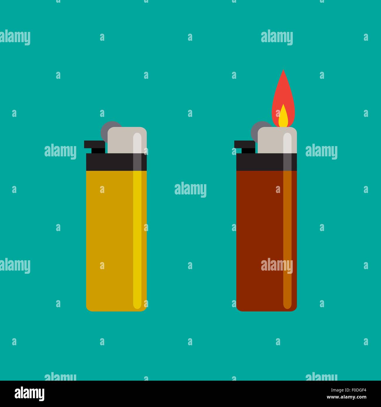 Long Lighters icon in flat style, vector illustration. - Stock Image