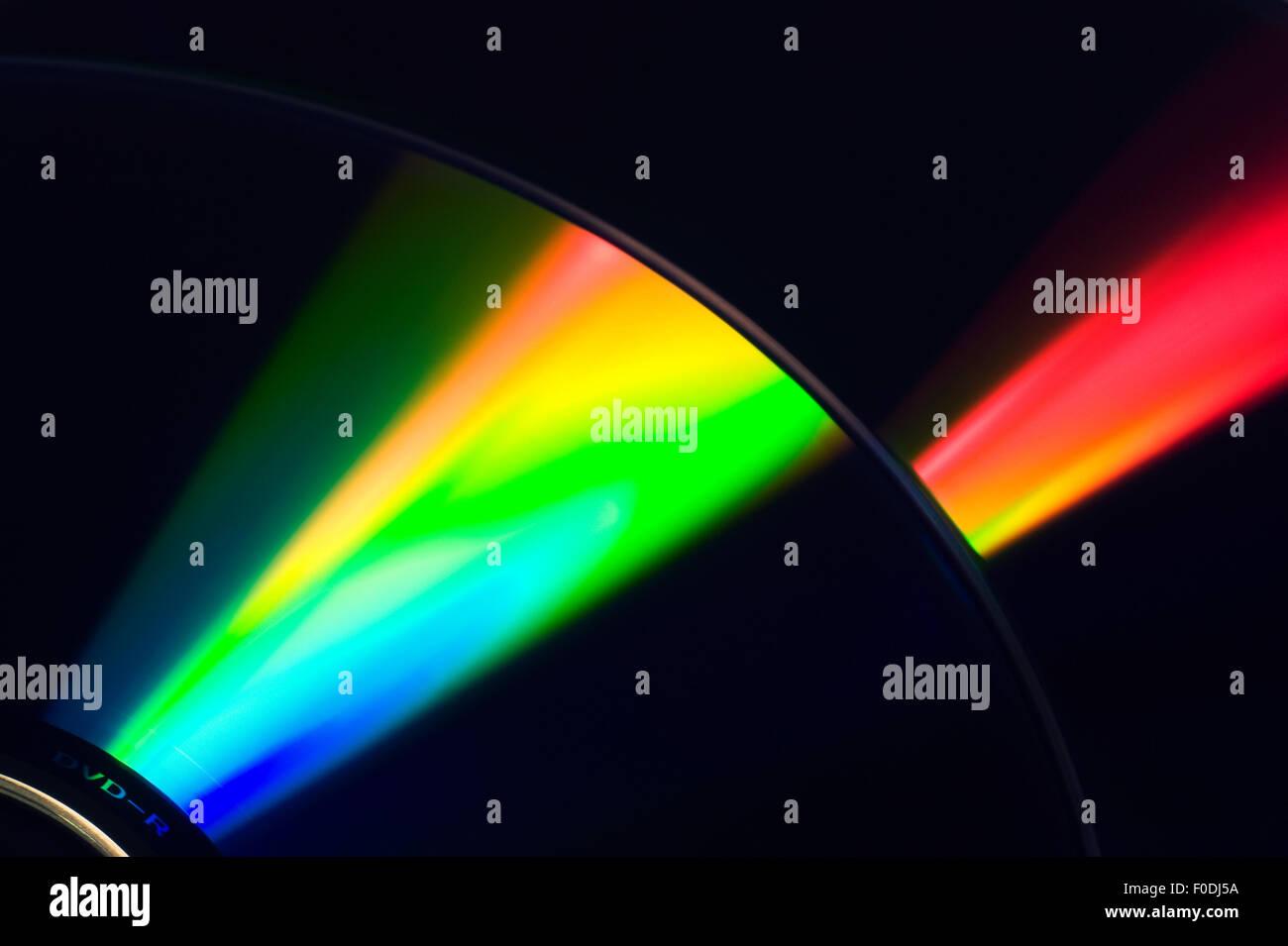 Laser on DVD Background - Stock Image