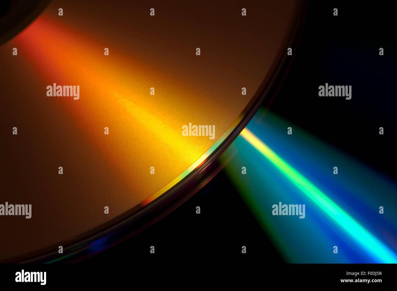 Laser on CD ROM - Stock Image
