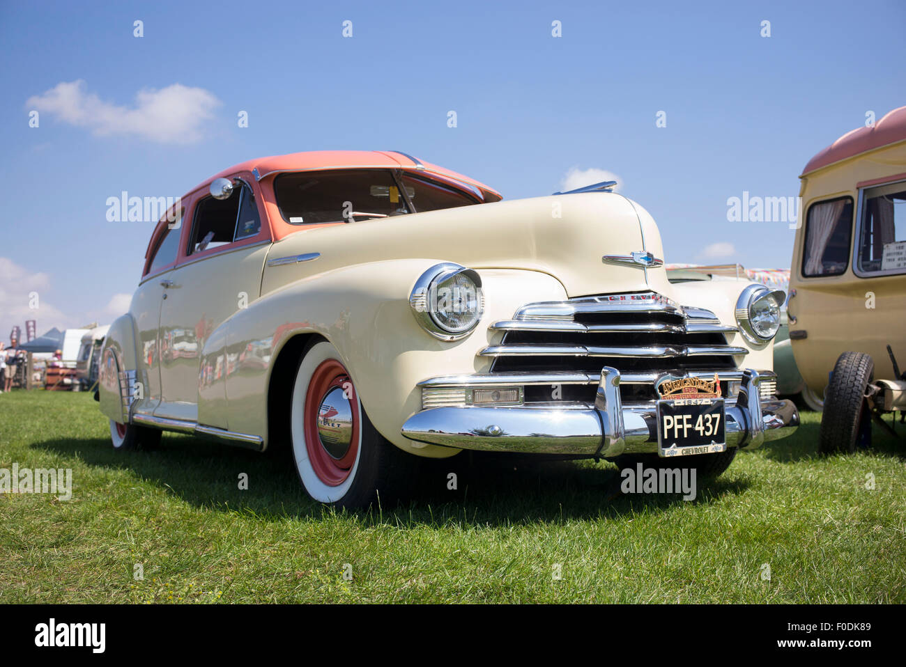 1947 Chevrolet Stylemaster coupe car at a vintage retro festival. UK - Stock Image