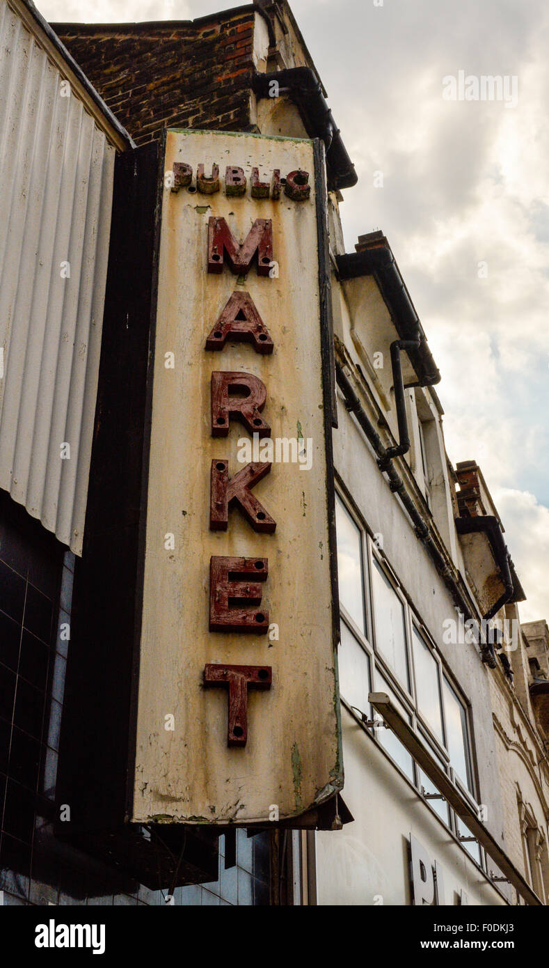 The Public Market in Woolwich in South East London - Stock Image