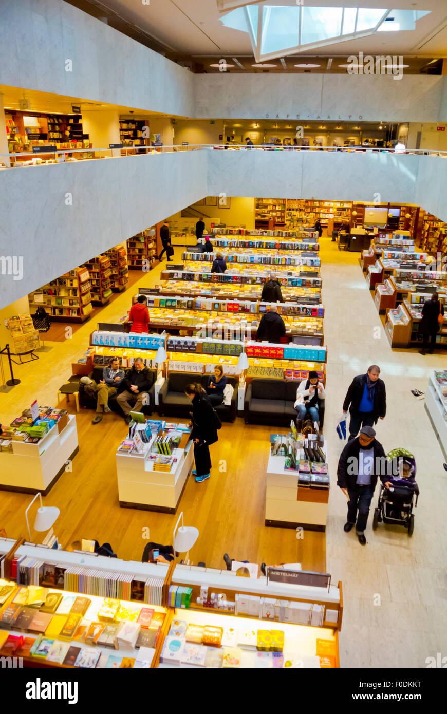 Akateeminen kirjakauppa, Academic bookstore, designed by Alvar Aalto, Helsinki, Finland - Stock Image