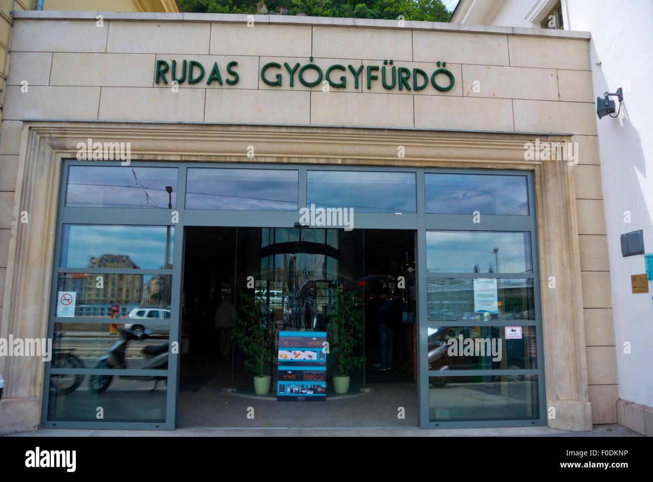 Rudas Gyogyfurdo, Rudas Mineral Baths, Buda, Budapest, Hungary, Europe - Stock Image