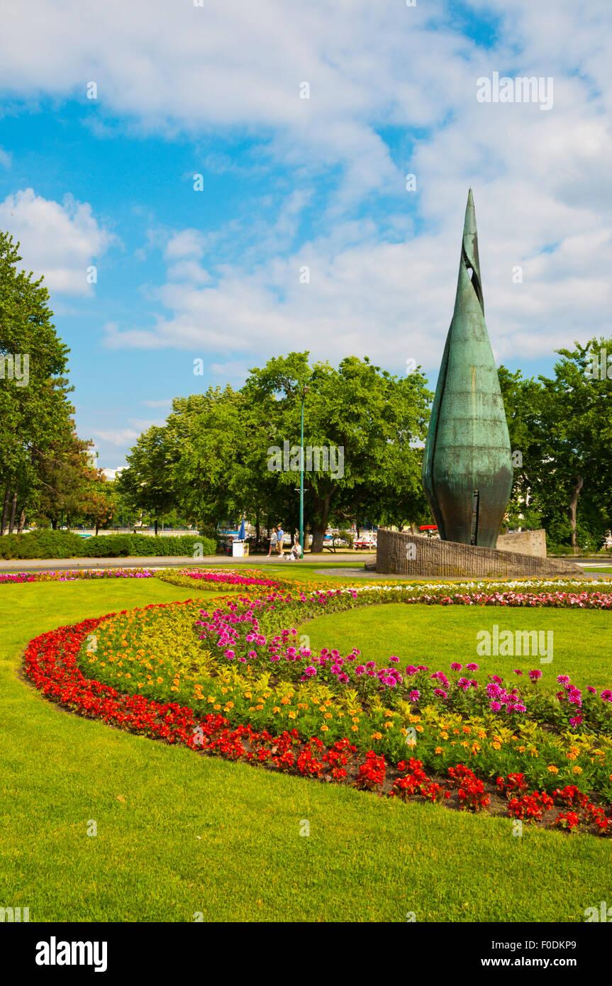 Centennial monument, Margit-Sziget, Margaret Island, Budapest, Hungary, Europe - Stock Image