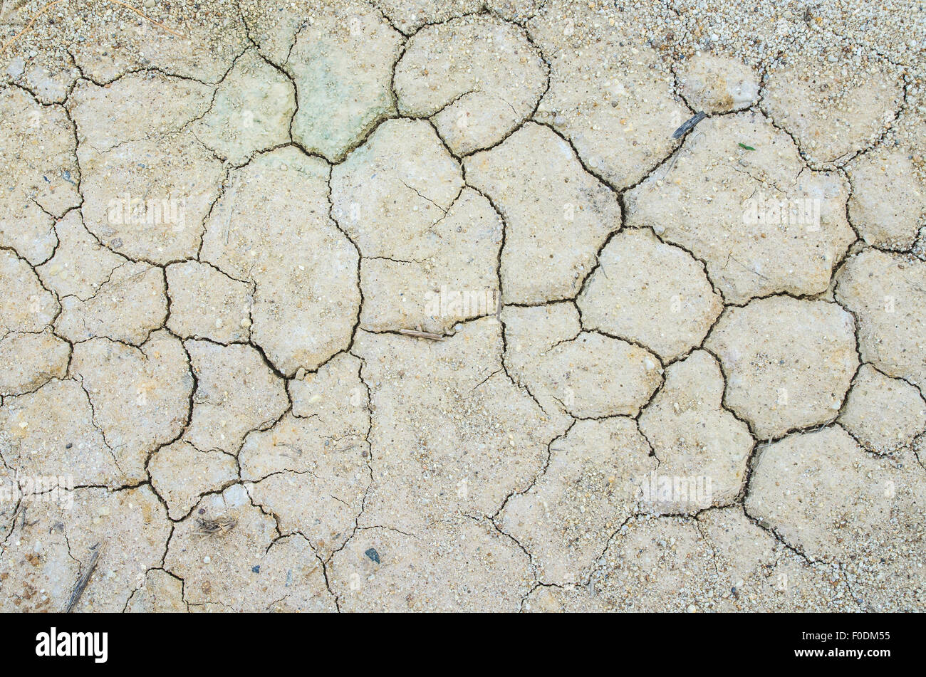 Cracked Ground, Earthquake Background, Texture - Stock Image