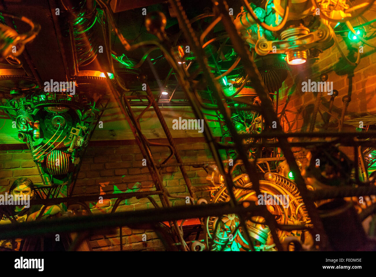 Cross Club, favorite music club, Nightlife, Prague Holesovice, Czech Republic - Stock Image