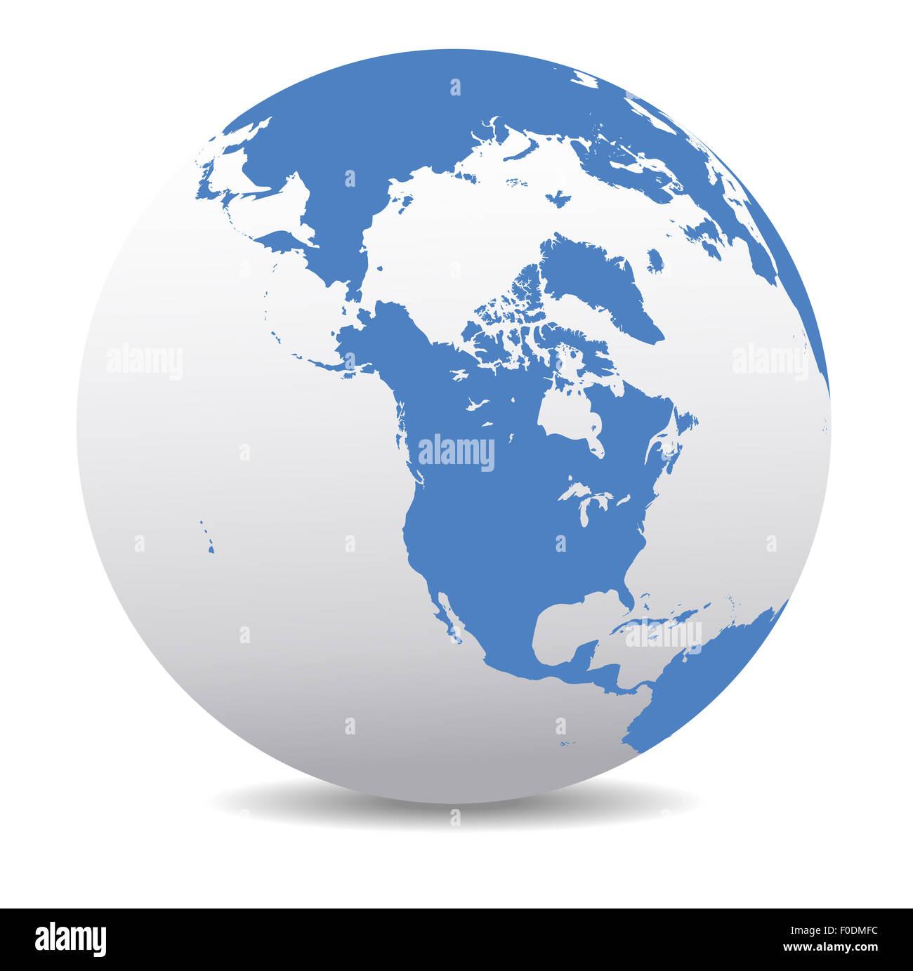 map icon of the world globe north america usa