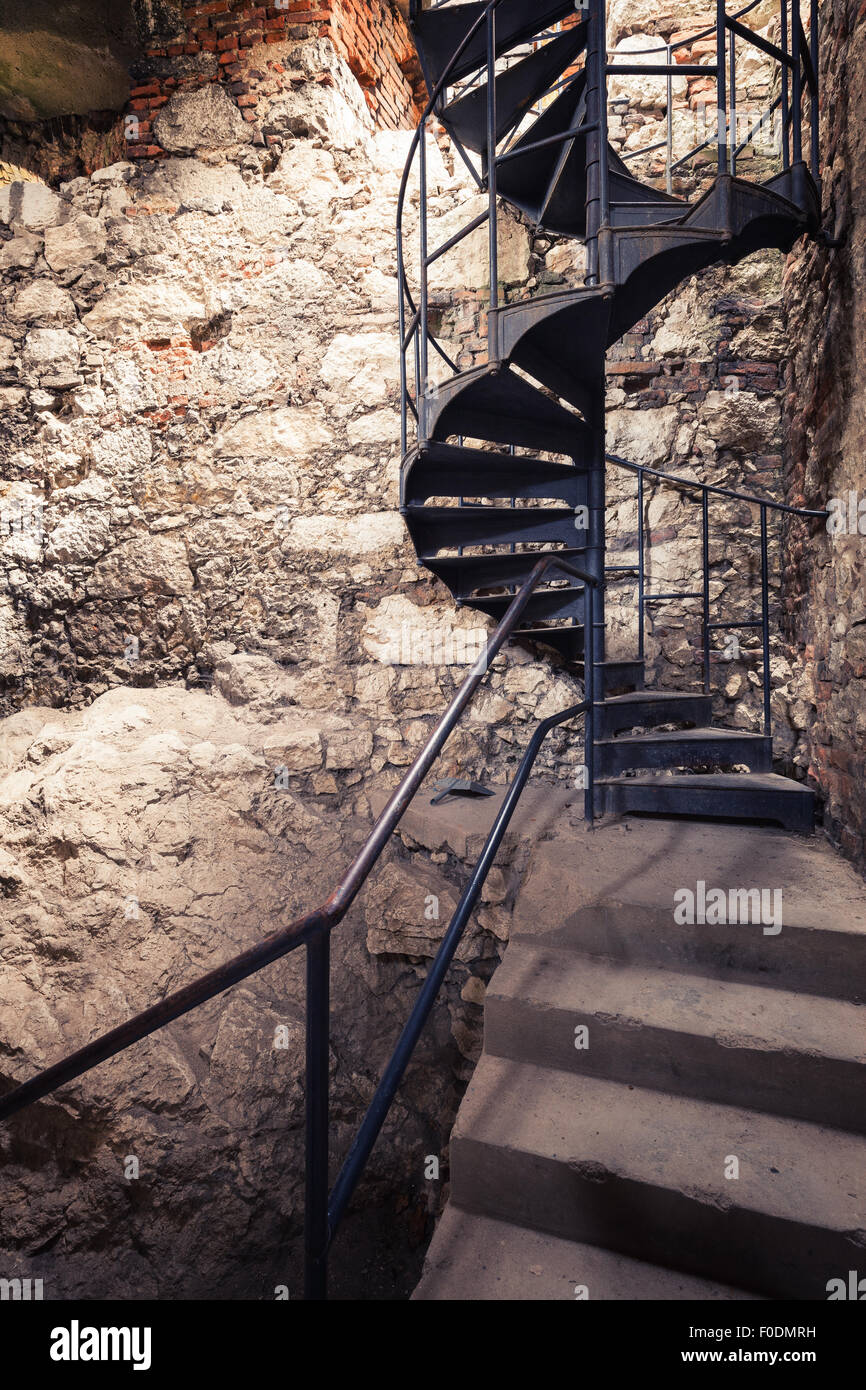 Old Metal Staircase   Stock Image