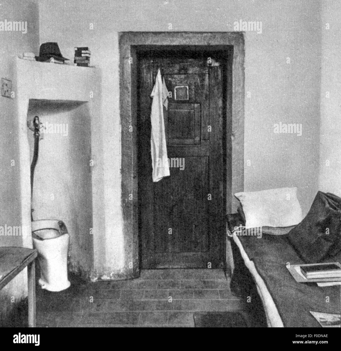 justice, lawsuits, Nuremberg Trials, trial against the major war criminals, prison cell, Nuremberg, 1945 / 1946, Stock Photo