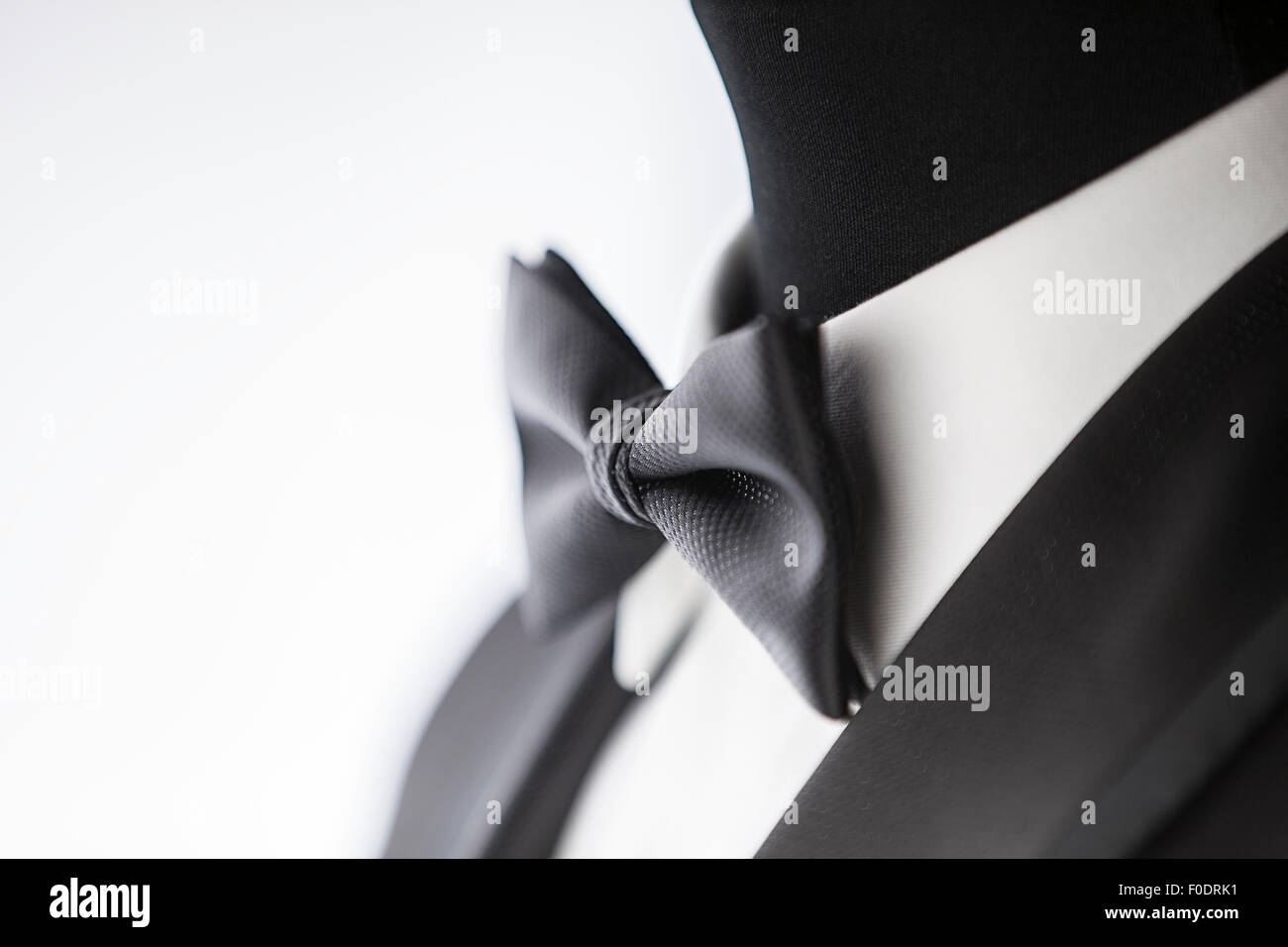 Bow tie and Tuxedo - Stock Image