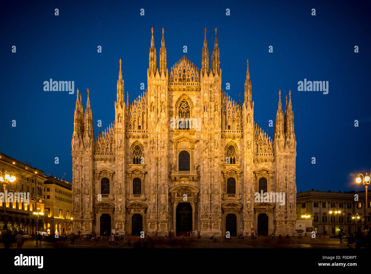 Milan Cathedral at dusk. Milan Italy. - Stock Image