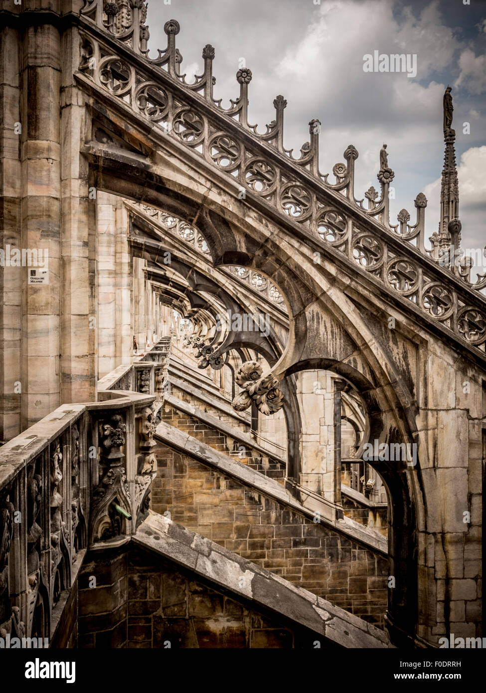 Roof structure of Milan Cathedral. - Stock Image