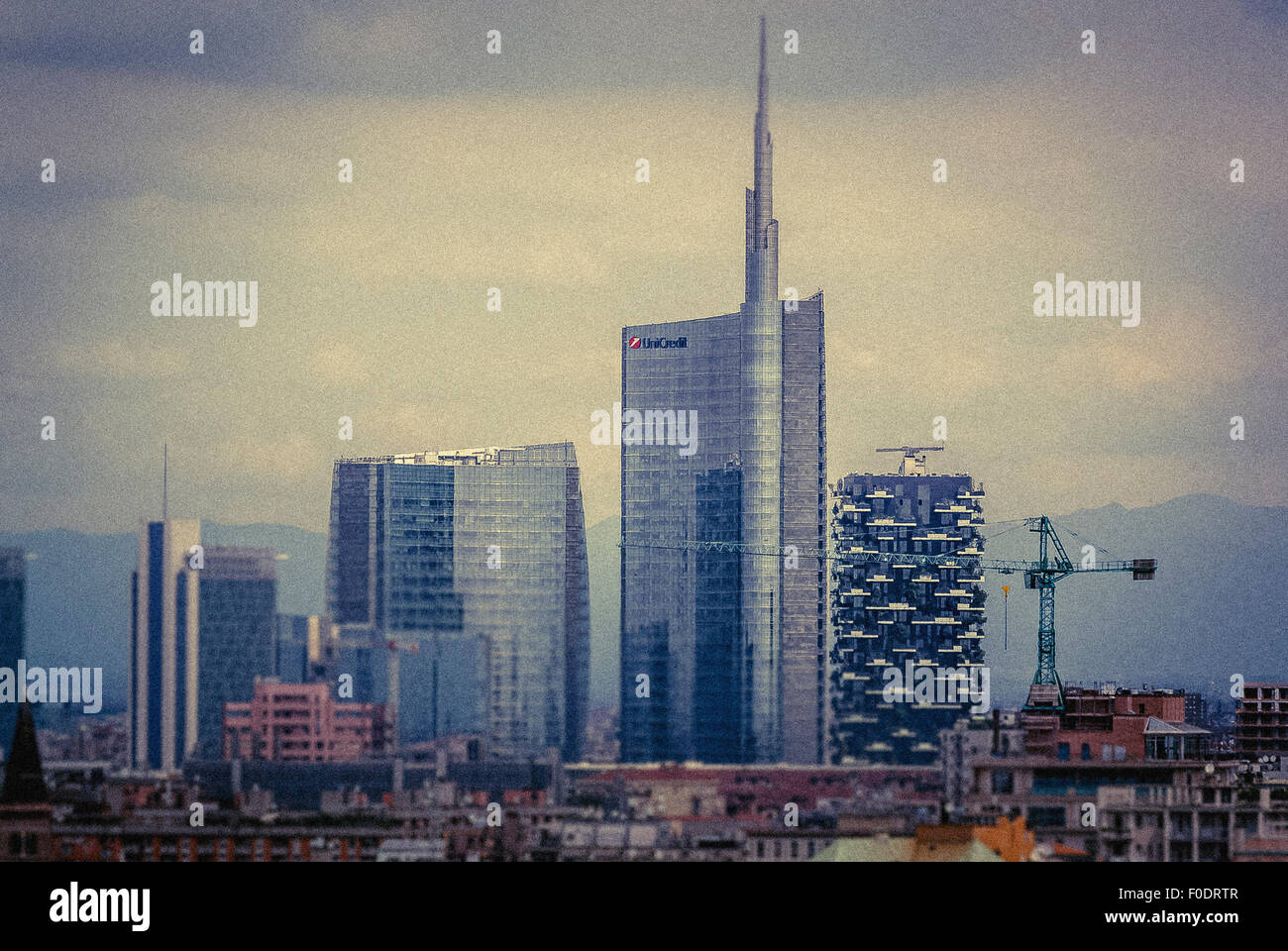 view from the roof of Milan Cathedral. - Stock Image