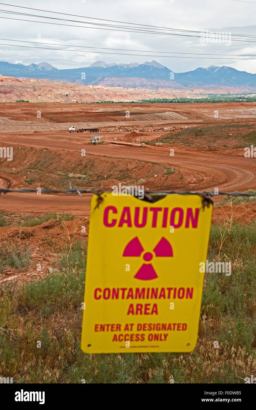 Moab, Utah - Radioactive uranium tailings cleanup. - Stock Image