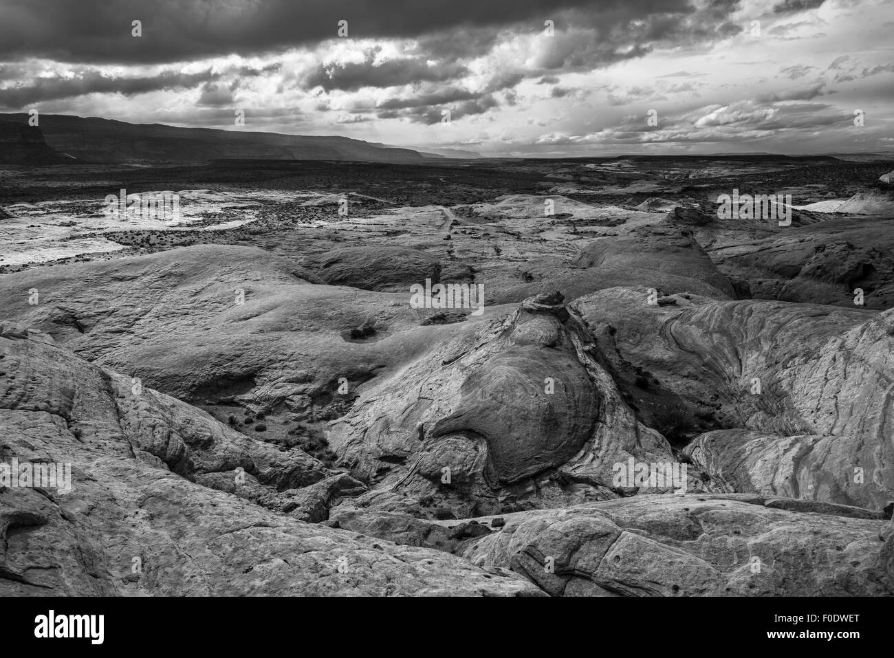 Black and White Utah Landscape Escalante National Park Stock Photo