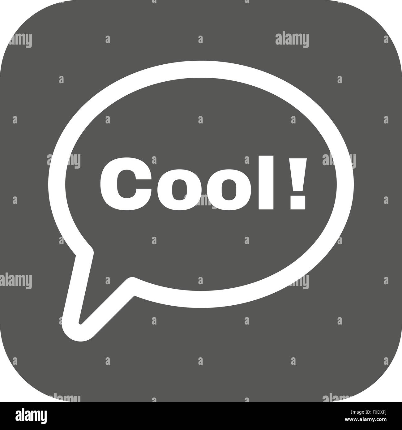 The Speech Bubble With Word Cool Icon Internet And Chat Online Symbol Flat