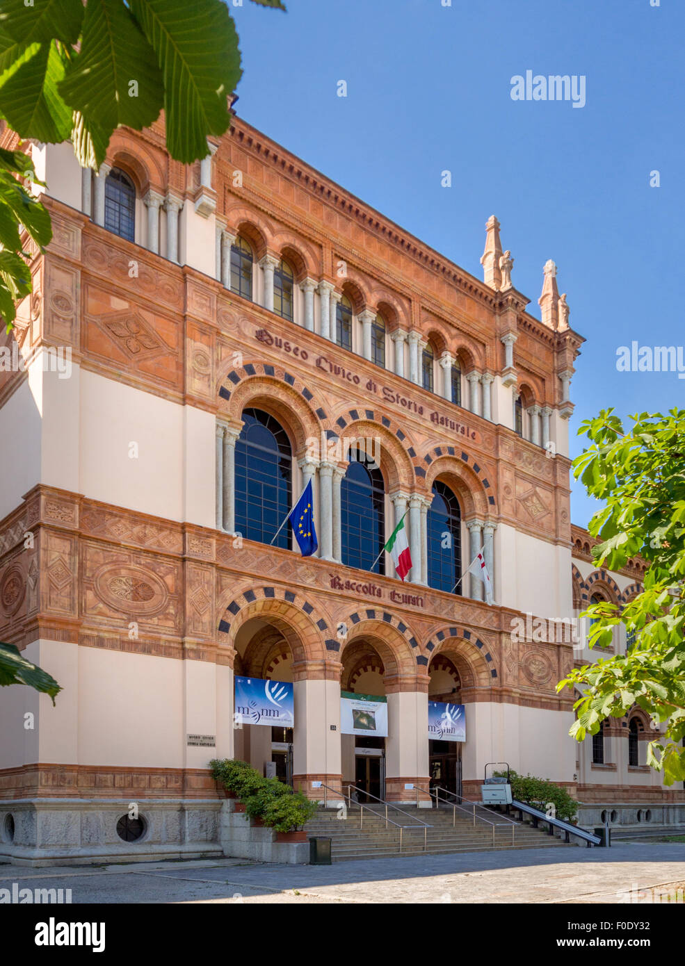 Milan Natural History Museum. Italy. - Stock Image