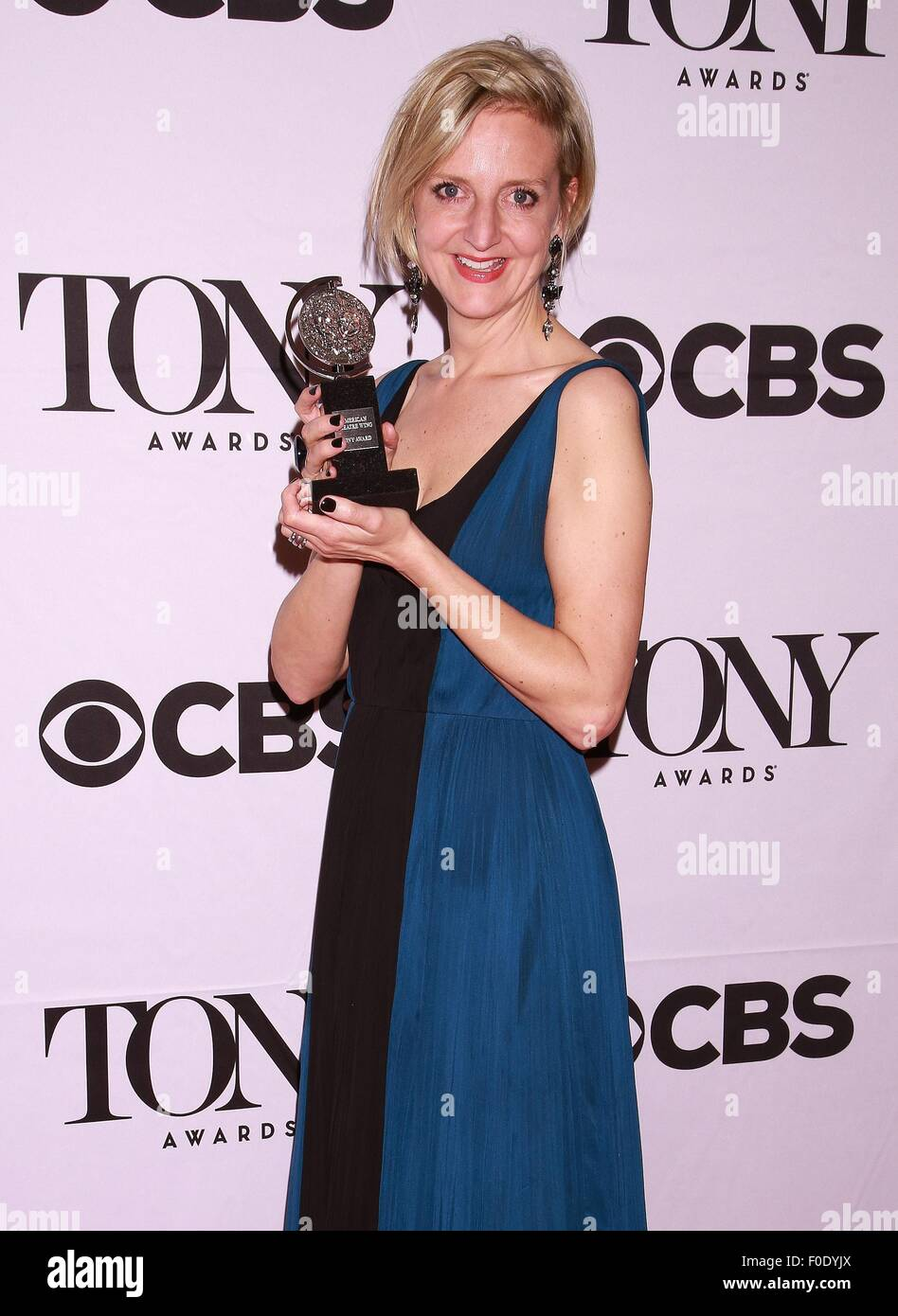 The 69th Annual Tony Awards held at Radio City Music Hall - Press Room  Featuring: Marianne Elliott Where: New York - Stock Image
